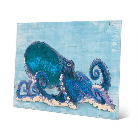 Dat Cool Blue Octopus Wall Art Print on Metal