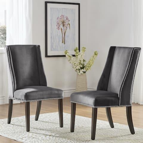 Geneva II Velvet Wingback Hostess Chairs (Set of 2) by iNSPIRE Q Bold