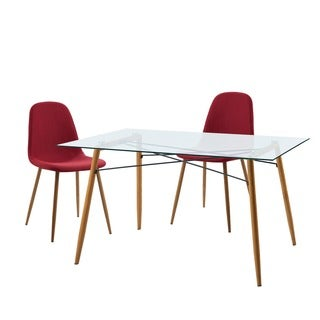 Versanora Minimalista Table and 2 Chairs Dining Set