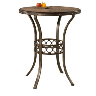 Hillsdale Furniture Lannis Bar Height Bistro Table in Brush Steel