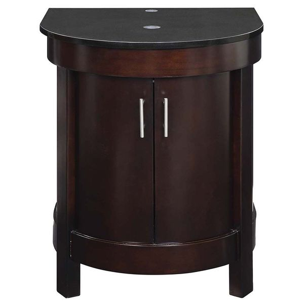 Decolav Haddington Collection Espresso Wood Vanity with Black Granite Top