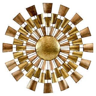 Norah Goldtone Copper Metal Wall Decor