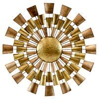Norah Goldtone Copper Metal Wall Decor