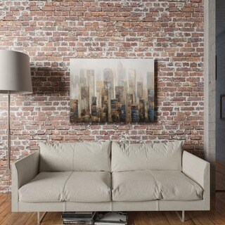 Yosemite Home Decor City in the Chill Original Hand-Painted Wall Art