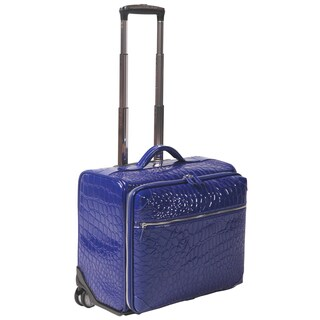 OUUL Alligator Embossed Faux Leather 18-inch Rolling Carry On Suitcase https://ak1.ostkcdn.com/images/products/16306580/P22671141.jpg?_ostk_perf_=percv&impolicy=medium