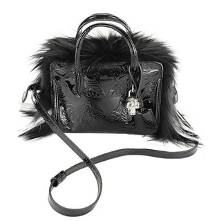 Alexander Mcqueen Classic Black Leather Shoulder Handbag