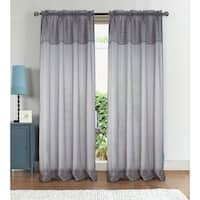 RT Designers Collection Anise Textured Rod Pocket 90-Inch Curtain Panel w/ Attached 18 in. Valance