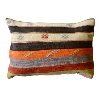 Pasargad Vintage Turkish Multicolored 15-inch x 23-inch Pillow