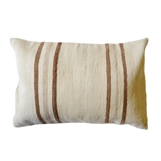 Pasargad Vintage Turkish Multicolored Wool 15-inch x 23-inch Throw Pillow