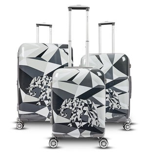 Gabbiano Safari Elephant 3-piece Expandable Hardside Spinner Luggage Set