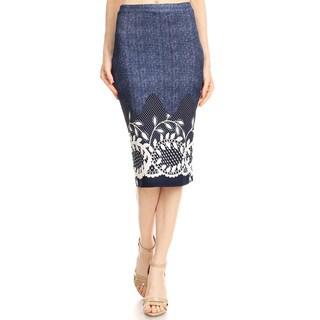 Women's Border Floral Crochet Lace Pencil Skirt