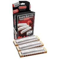 Hohner Marine Band 1896 Pro Harmonica - 3-Pack - Keys C, G and A