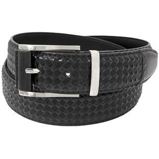 Stacy Adams Black 35mm Genuine Leather Diamond Embossed Belt
