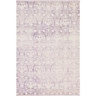 Arcadia Purple Floral Area Rug (7' x 10')