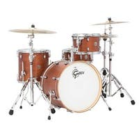 "Gretsch Catalina Club CT1 4-Piece Shell Pack w/ 20"" Bass Drum - Satin Walnut Glaze"