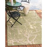 Unique Loom Branch Outdoor Area Rug - 5' x 8'