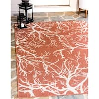 Unique Loom Branch Outdoor Area Rug - 5' 0 x 8' 0