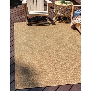 Link to Unique Loom Outdoor Links Area Rug Similar Items in Farmhouse Rugs