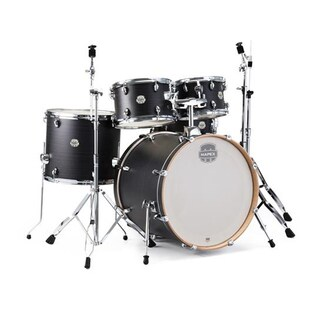 "Mapex ST5295FIK Storm 22"" Bass Drum 5-Piece Rock Drum Set w/Chrome Hardware - Ebony Blue Grain"