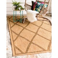 Unique Loom Diamonds Outdoor Area Rug - 7' 0 x 10' 0