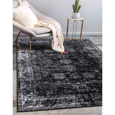 Runner Black Traditional Area Rugs