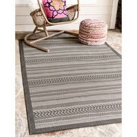 Unique Loom Lines Outdoor Area Rug - 7' x 10'