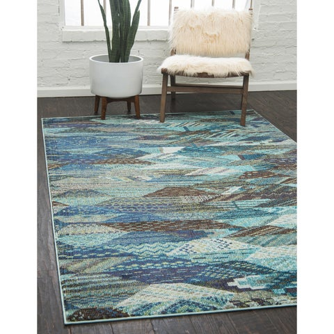 Unique Loom Rainier Sedona Rug - 8' x 10'