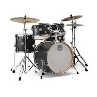 "Mapex ST5045FIK Storm 20"" Bass Drum 5-Piece Fusion Drum Set w/Chrome Hardware - Ebony Blue Grain"