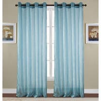 RT Designers Collection Maya Crushed 90-Inch Grommet Curtain Panel