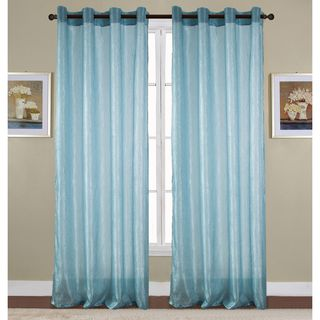 RT Designers Collection Maya Crushed 90-Inch Grommet Curtain Panel - 53 x 90 in.