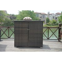 Santa Rosa Wicker Garden Storage Shed with Lid