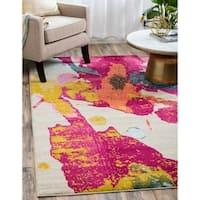 Abbyson Leopard Print Teal Wool Rug 8 X 10 Free
