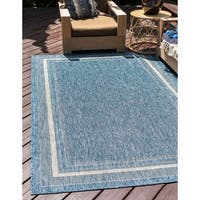 Unique Loom Soft Border Outdoor Area Rug - 7' 0 x 10' 0