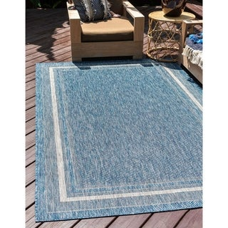 Unique Loom Outdoor Soft Border Area Rug