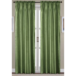 RT Designers Collection Nikki Faux Silk 84-Inch Rod Pocket Curtain Panel