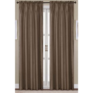Clay Alder Home Eads Faux Silk 90 Inch Rod Pocket Curtain Panel Option