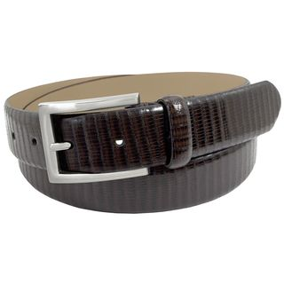 Stacy Adams 32mm Brown Lizard Embossed Geniune Leather Belt