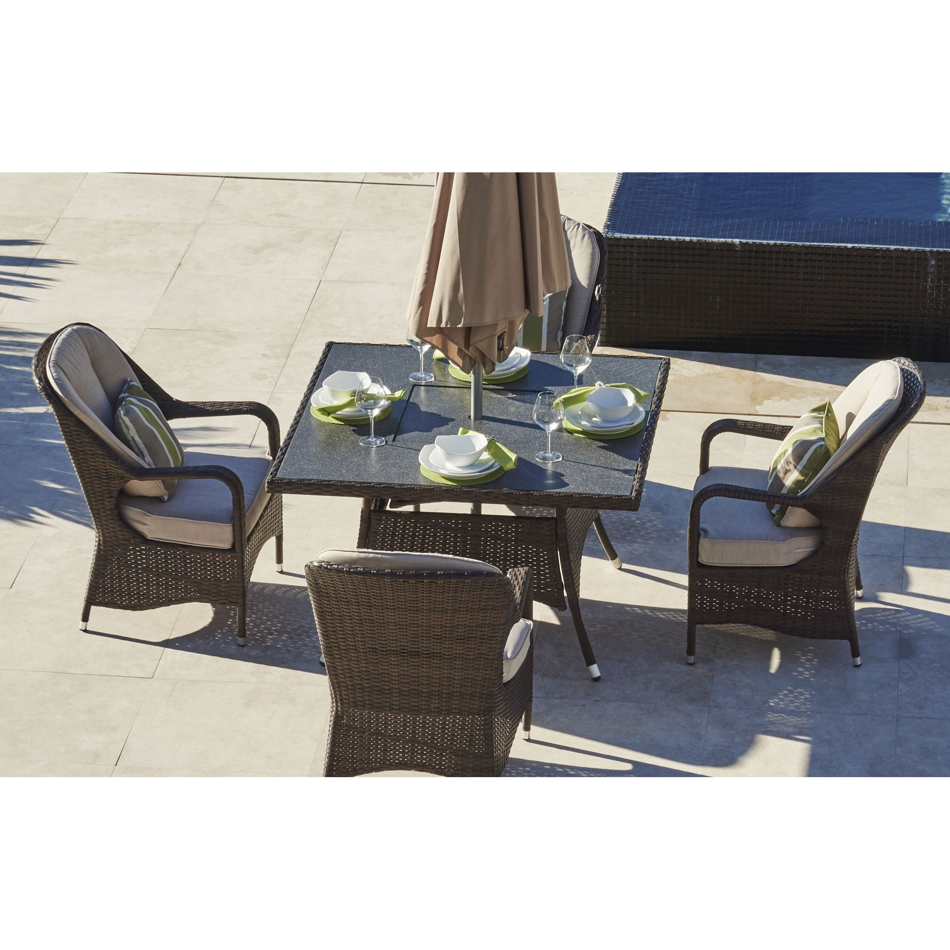 Fire Pit Table Combo   Decoration Items Image