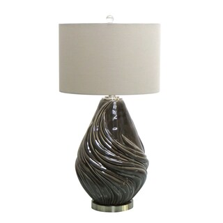"""30.50"""" Round Ceramic Table Lamp"""