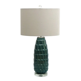 Jeco Blue and Green Ceramic Table Lamp