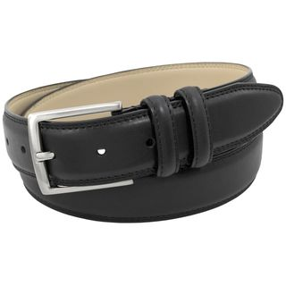 Stacy Adams 34mm Black Genuine Leather Belt w/Matching Double Keeper