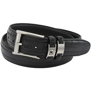 Stacy Adams 35mm Black Tri-Leather Embossed, Croc, Lizard, Snake Belt|https://ak1.ostkcdn.com/images/products/16307340/P22671805.jpg?impolicy=medium