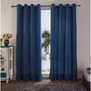 RT Designers Collection Thelma Jacquard 90-Inch Grommet Curtain Panel - 54 x 90 in.