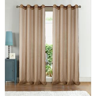 RT Designers Collection Nile Textured Box Doily 90 in. Grommet Curtain Panel