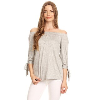 Women's Solid Open Sleeve Pleated Tunic Top