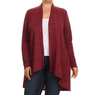 Women's Plus Size Loose Fit Knit Cardigan