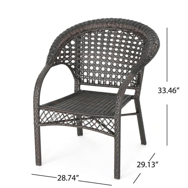 Swell Shop Monroe Outdoor 3 Piece Round Wicker Bistro Chat Set By Gmtry Best Dining Table And Chair Ideas Images Gmtryco