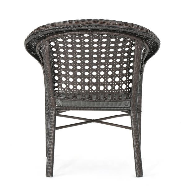 Enjoyable Shop Monroe Outdoor 3 Piece Round Wicker Bistro Chat Set By Gmtry Best Dining Table And Chair Ideas Images Gmtryco