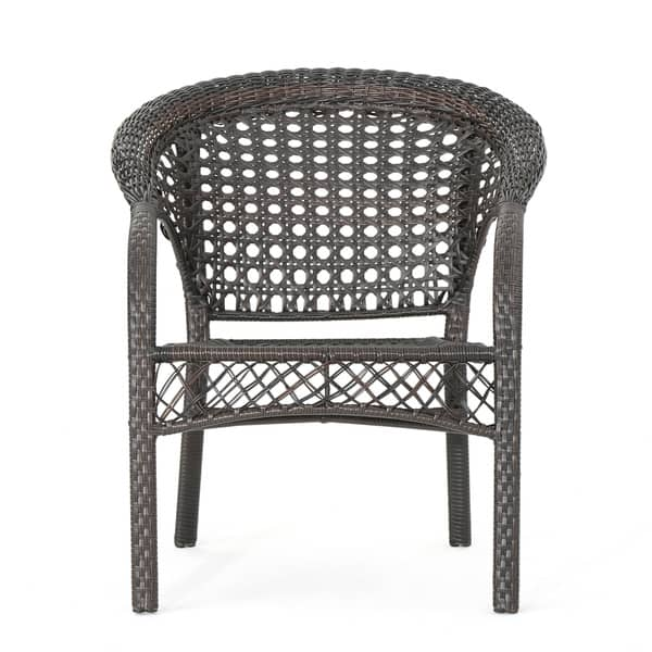 Miraculous Shop Monroe Outdoor 3 Piece Round Wicker Bistro Chat Set By Gmtry Best Dining Table And Chair Ideas Images Gmtryco