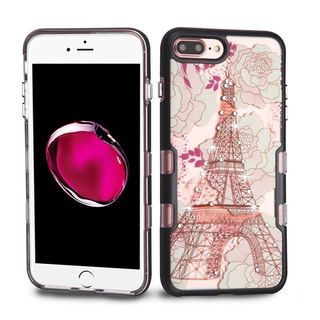 Insten Multi-Color Eiffel Tower Tuff Hard Snap-on Dual Layer Hybrid Case Cover with Diamond For Apple iPhone 7 Plus